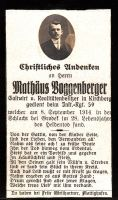 Am 8. September 1914 bei GRODEK gefallener Rainer
