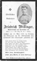 Infantrist Willinger Friedrich