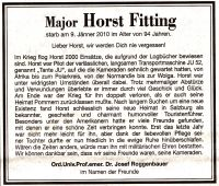 Major Horst Fitting