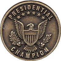 Presidental Champion Award Gold Pin